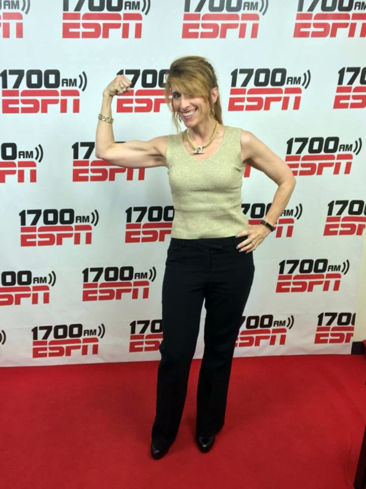 Having fun on the Women's Power Hour Show on ESPN
